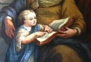 Curso de latim_Niño Jesús aprende a leer - Ig. S. Rita_Niza_Nice_France